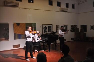 Art Chamber, Goa 2016 Jacek Stolarszyk, Violine Kristoff Kokoszewski, Violine Jacek Obstracszyk, Klavier