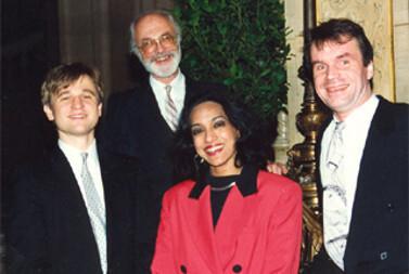 Gemini Quartet vor der Staatsoper, Wien